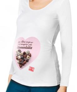 t-shirt premaman spiritosa cioccolata