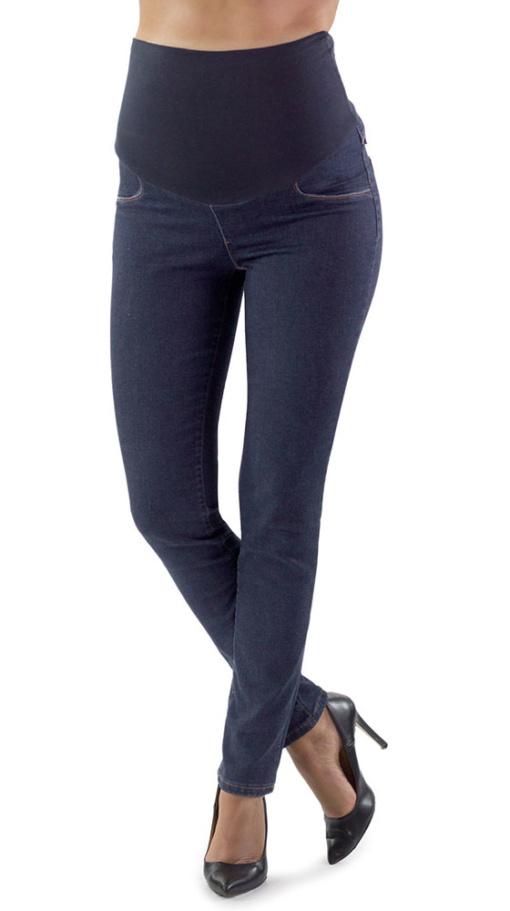 foto ufficiali ba691 71ed9 Jeans premaman scuri - jeans premaman basic comodi 100% Made ...