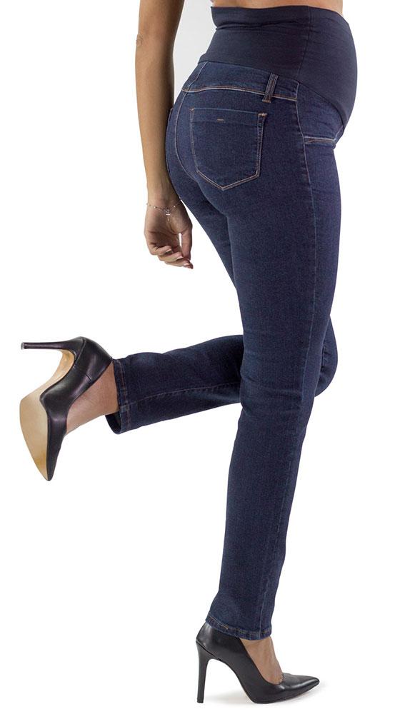 l'ultimo 12a4d 799f2 Jeans premaman scuri basic