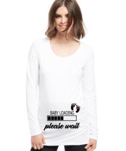 t-shirt per la gravidanza baby loading