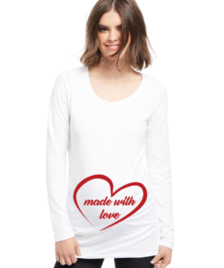 t-shirt premaman simpatica made with love