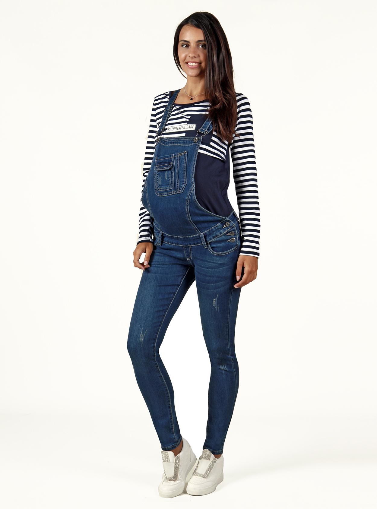 huge discount 9b089 b6086 Salopette premaman di jeans