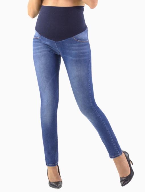 jeans premaman con fascia alta